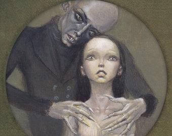 "Nosferatu 16x12 Art Print, Vampire Painting, Halloween Wall Art, A Symphony of Horror, Vampyre Movie Poster ""Nosferatu"""