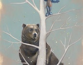 Girl Climbing Tree Art, B...