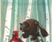 Red Riding Hood 11x17 Lim...
