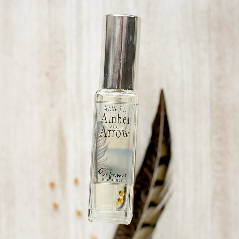 Amber  Arrow Perfume  Notes of Amber Sandalwood Incense image 0
