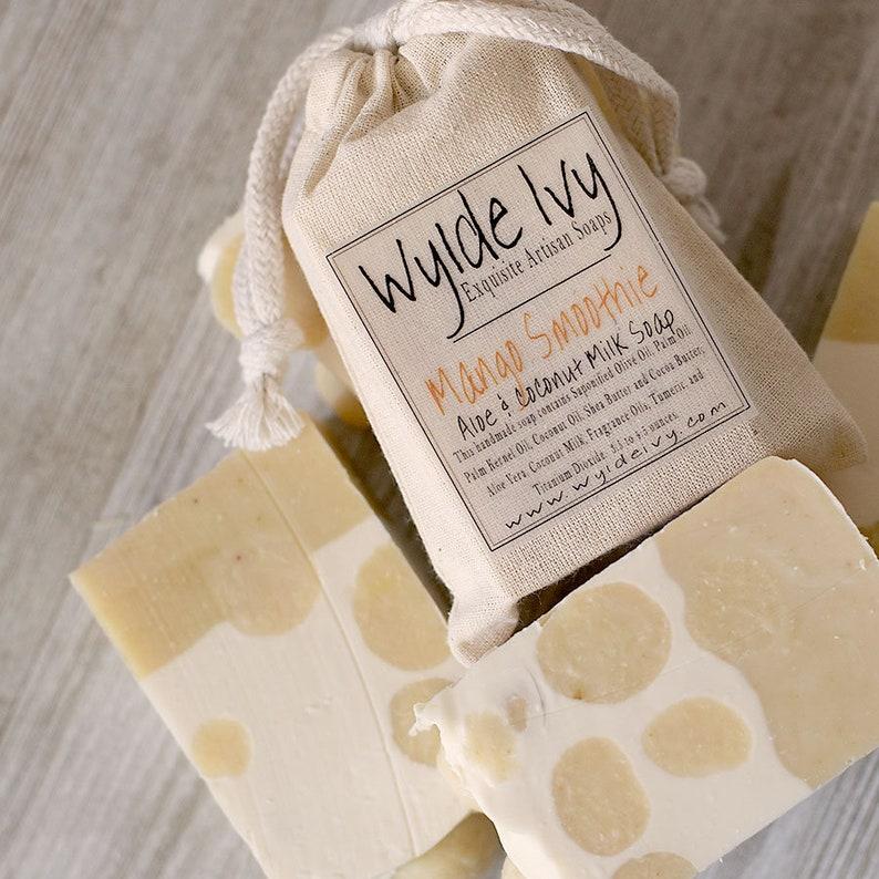 Mango Smoothie  Handmade Soap with Aloe and Coconut Milk image 0
