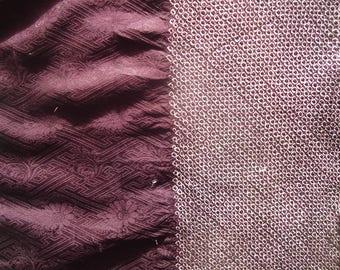 Silk Fabric Purple Half Shibori