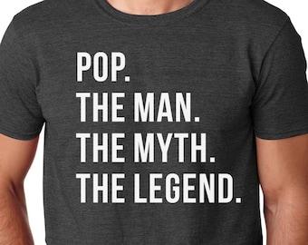 7ff6c173ec19 Pop Shirt-Pop Gift-Pop the Man the Myth the Legend Gift for Pop Christmas  Gift Idea Tshirt Mens Shirt Funny Xmas tee Birthday Tshirt
