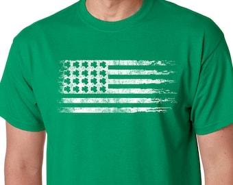 e4583f37 Mens Shirt Irish St Patrick's Day USA Flag Mens T shirt Shamrock Irish Gift  Tshirt Cool Shirts Party Irish T shirt Ireland Green Tee shirt