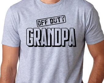 e5c2a5fc Off Duty Grandpa Mens T-Shirt Grandfather Gifts Fathers Day shirt Grandpa  papa pop paw paw t shirt Gifts for him Family holidays Christmas