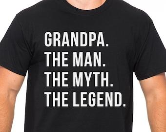 197d4db3 Funny Grandpa Shirt for Grandpa The Man The Myth The Legend Grandpa T Shirt  Fathers day Gift Husband Gift Grandpa Gift Funny T shirts