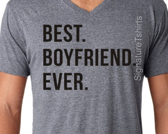 Boyfriend Shirt Gift Anniversary Best Ever Tshirt Birthday T Funny Tee Soft Valentines Day