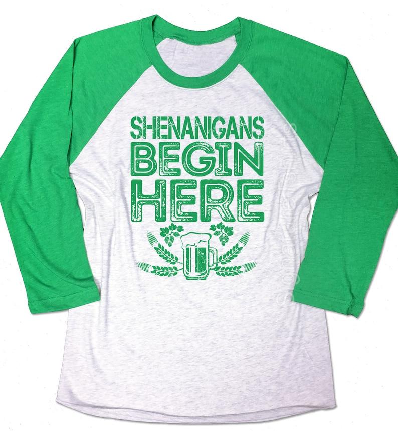 593df895 Shenanigans Begin Here Shirt. Shenanigans shirt. Funny Mens   Etsy