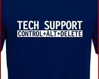 Tech Support Mens Womens T-Shirt Funny Computer Geek tshirt shirt Christmas Gift Tee S - XL