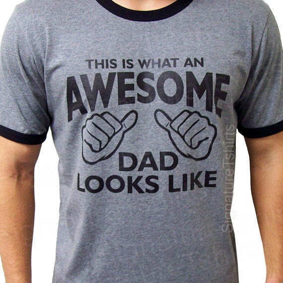 df202348 AWESOME DAD This is what an dad looks like Mens daddy T-shirt | Etsy