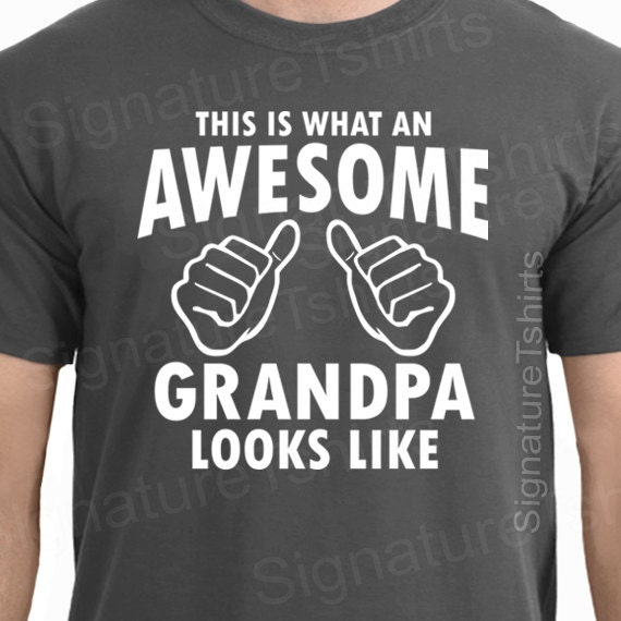 8b29f028 Fathers Day Gift AWESOME GRANDPA Mens T-shirt Gifts For Dad | Etsy