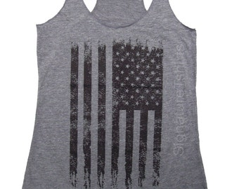 American Flag Tank Top, Vintage style Tank Top, American Flag Tank, Fourth of July Tank, Country Concert Tank, Holiday clothing