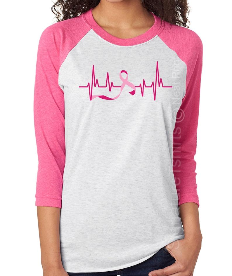 Ladies Breast Cancer Awareness Shirt Think Pink Crewneck
