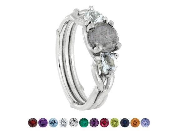 14K or 2 mm diamant et peridot août Pierre de naissance Bague taille 6 fabricants Standard prix de détail $280