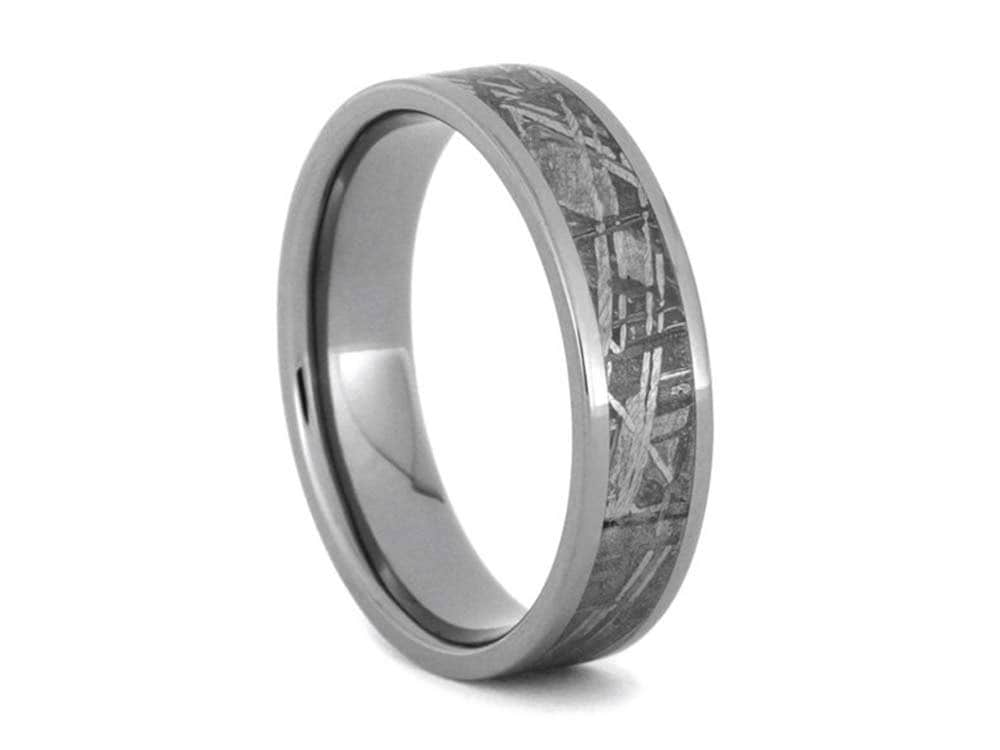 Meteorite Ring Meteorite Wedding Band Titanium Ring Mens Etsy