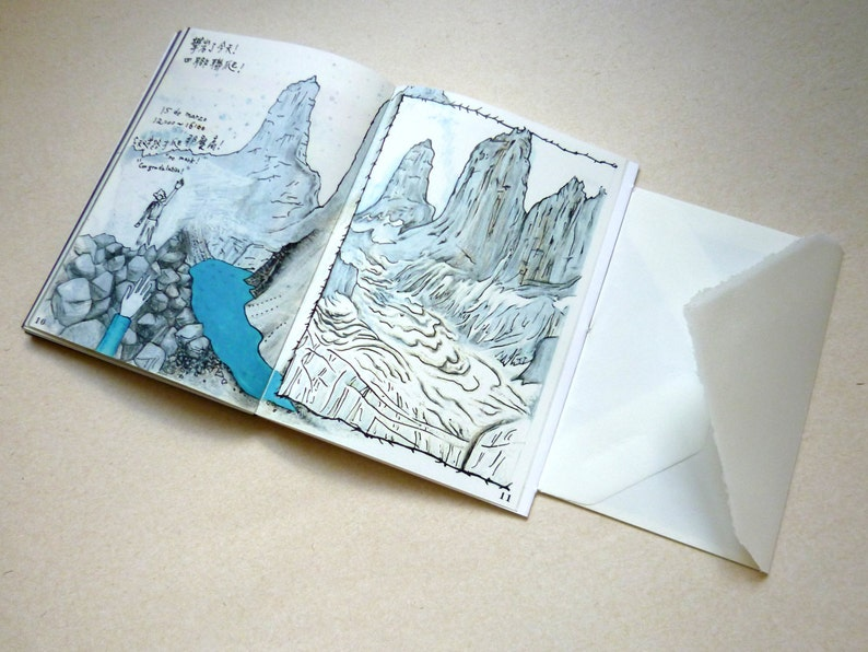 Snow  Artist's Book  Travel Sketchbook  Road Comics  image 0