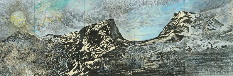 The Collection of Beautiful Mountains  Travel Sketchbook  image 0