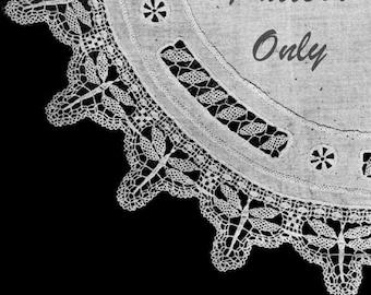 1919 Crochet Dragonfly Lace Pattern, Digital Crochet Pattern