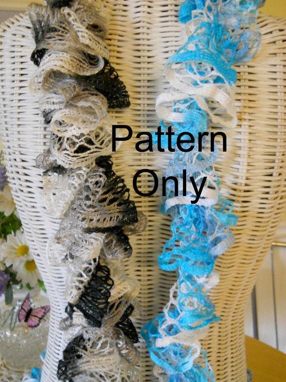 Easy Crochet Ruffle Scarf Pattern Etsy
