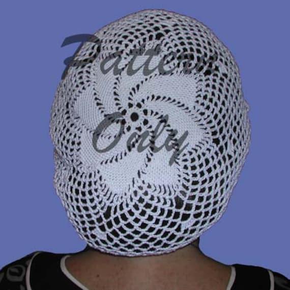 Pinwheel Snood Hair Net Pattern Easy Crochet Hair Snood Etsy