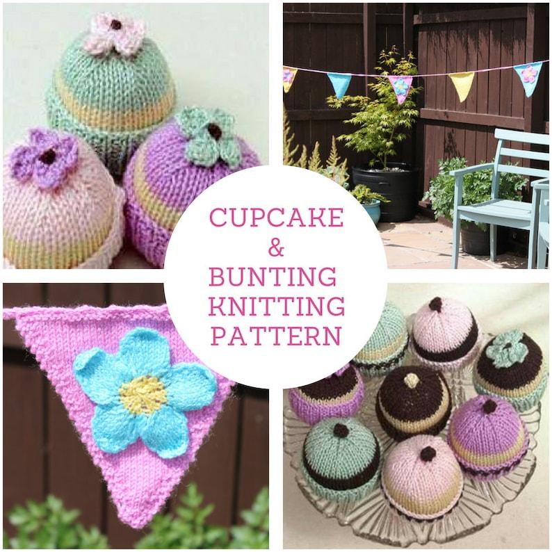 INSTANT DOWNLOAD PDF Knitting Pattern  Cupcake Fairy Cake   image 0