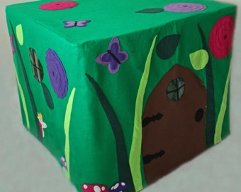 Pixie Place - ePattern for a Fairy Garden Card Table Fort