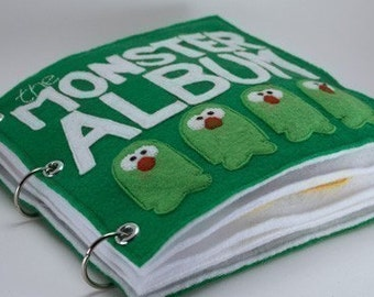 The Monster Album   Quiet Book Pattern, Busy Book Pattern, Travels Toys