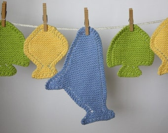 Fish Cloths - ePattern for Fish and Shark Shaped Wash Cloths