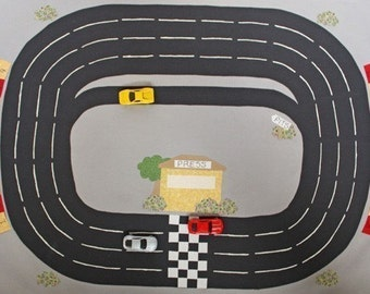 Toy Car Town Racetrack - ePattern for a Toy Car Play Mat