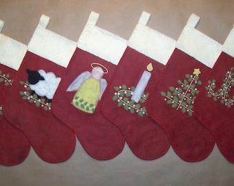Mistletoe - ePattern for Christmas Stockings