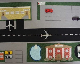 Toy Car Town Airport - ePattern for a Toy Car Play Mat