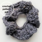 Scrunchie Pattern, Crochet Scrunchie Pattern, Crochet Pattern, Ellerbe Scrunchie, Made with Lion Brand Thick & Quick Pattern