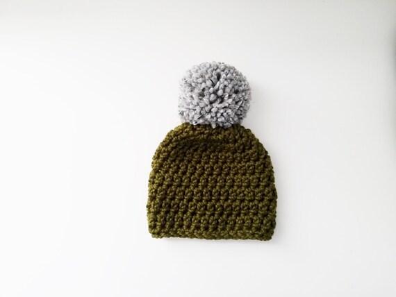 Giant Pom Pom Hat Chunky Knit Hat Winter Hat Pom Pom  a234c9cc728