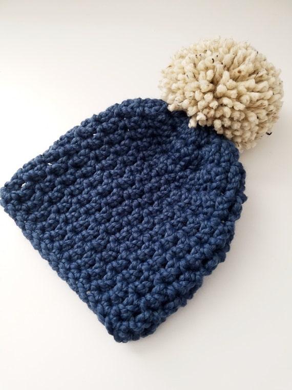 Pom Pom Hat Giant Pom Pom Hat Chunky Knit Hat Winter Hat  37b2bd7253d