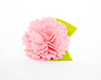 Dog Collar Flower - Pink Carnation