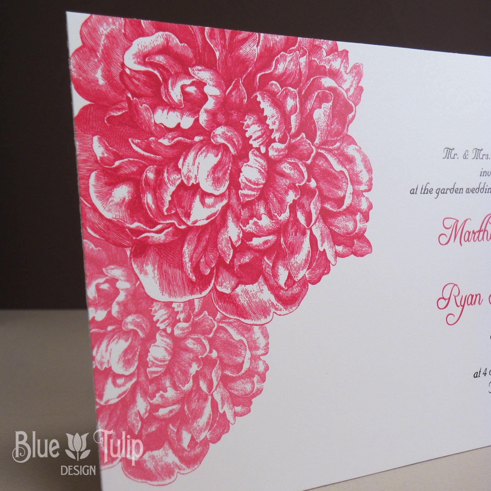 Peony Wedding Invitation | Etsy