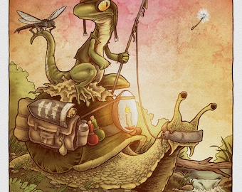 The Spear Fisherman - Art Print