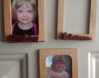 Magnetic personalized photo frames