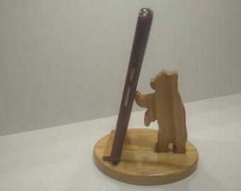 Bear phone holder