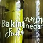 Cleaning Vinegar - Baking Soda - Empty Wine Bottle Set - Cleaning Set - Vinyl Decal for Wine Bottle - Non Toxic Cleaning - Earth Friendly