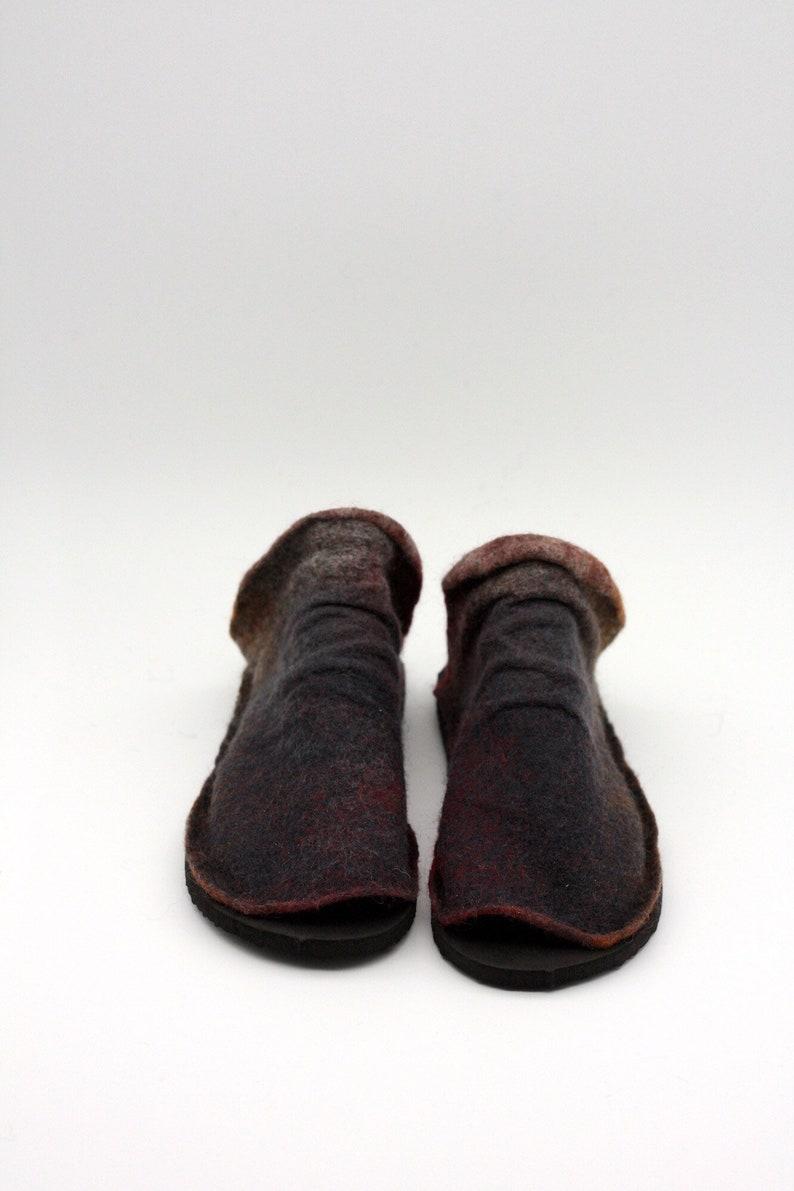 LUCIELALUNE spring slides women sandals handmad felted wool