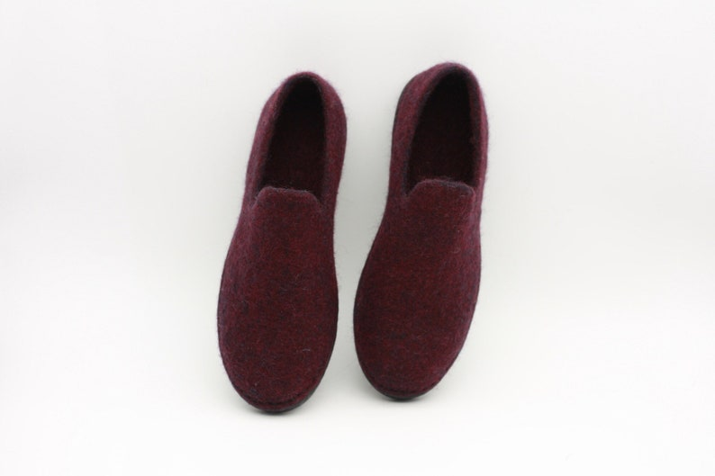 db4c2d9f7f352 LUCIELALUNE /37.5EU/ spring shoes barefoot loafer / handmade felted merino  wool slip on shoes