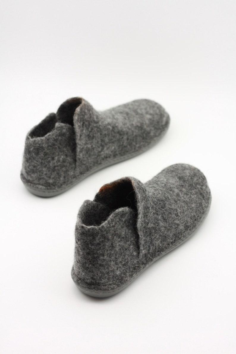 9de94e07dcabe LUCIELALUNE grey ankle boots for men women handmade felted merino wool slip  ons fall/winter boots men gifts ASB18