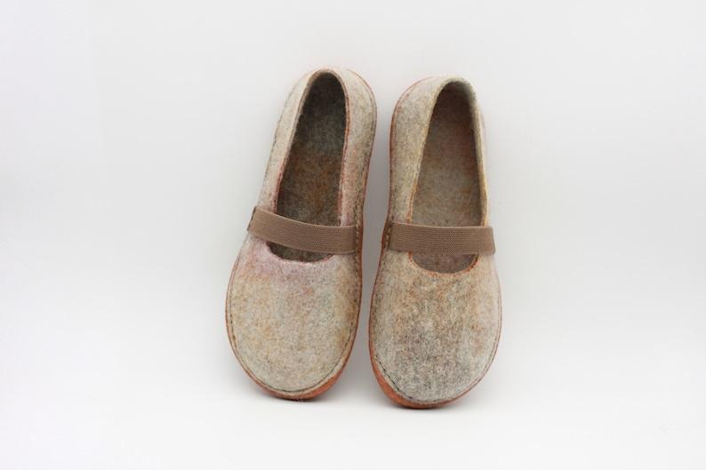 cccc9d17b21cd LUCIELALUNE /EU39 US8.5 UK6 / women's flat ballet shoes / spring autumn /  handmade felted merino wool slippers / slip on shoes