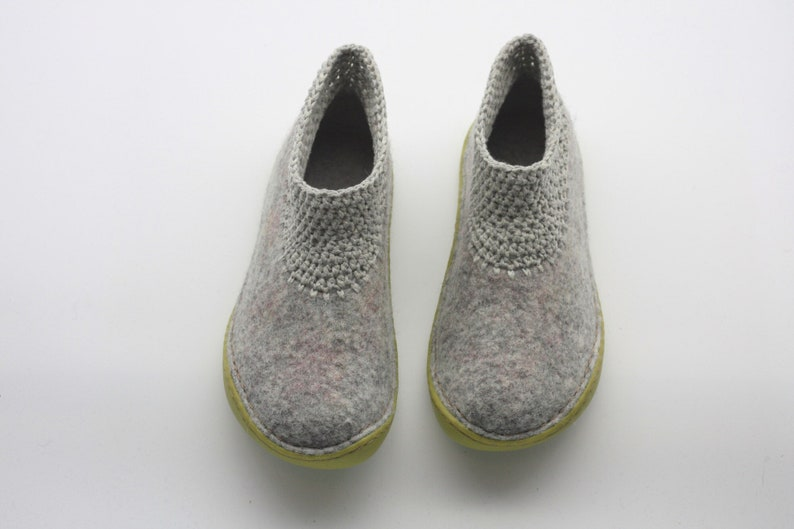 ed7a2b41b6e6e Lucielalune Spring ankle boots / Handmade felted wool / hand crochet /  women shoes AS8-B