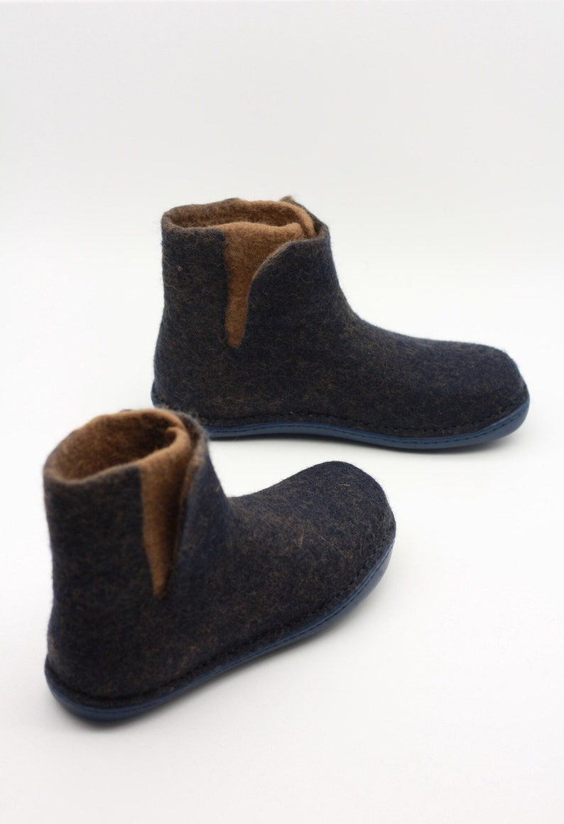 648a849b572cd LUCIELALUNE handmade natural felted wool women men chelsea boots rubber  sole winter outdoor shoes ASB2d