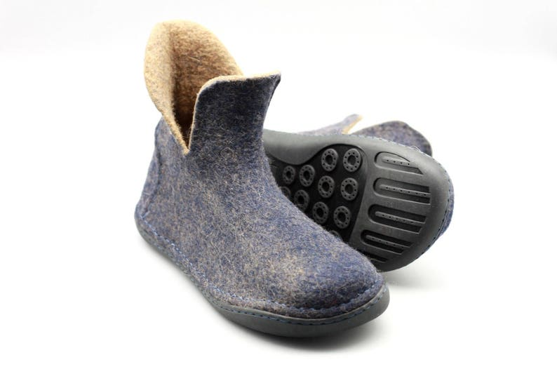 89d510ab71c10 LUCIELALUNE Men boots handmade felted wool ankle boots winter shoes