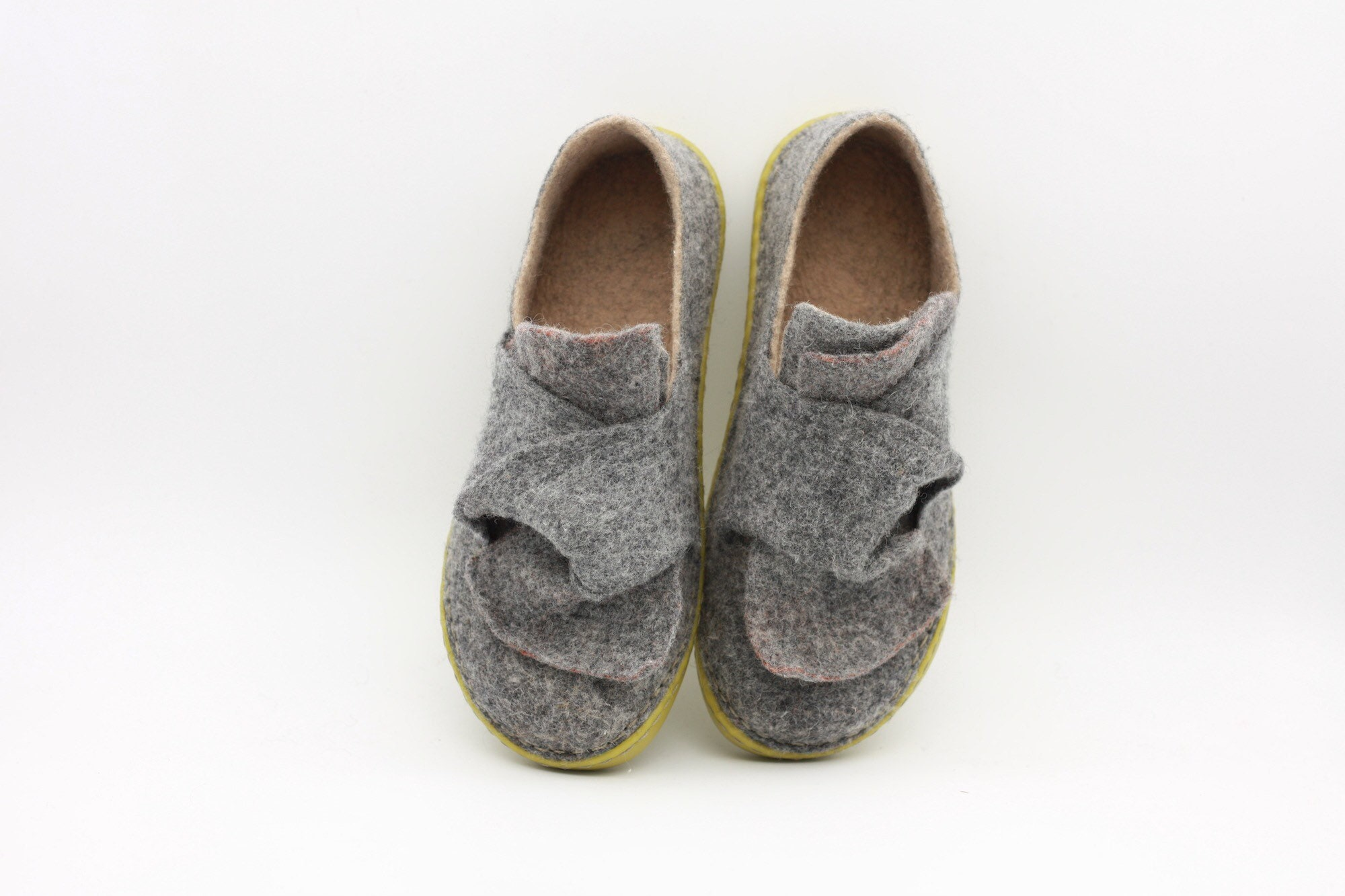 80369173720ac LUCIELALUNE EU38 US7.5 / Spring shoes elegant gray loafer/ handmade felted  wool women shoes AS10a