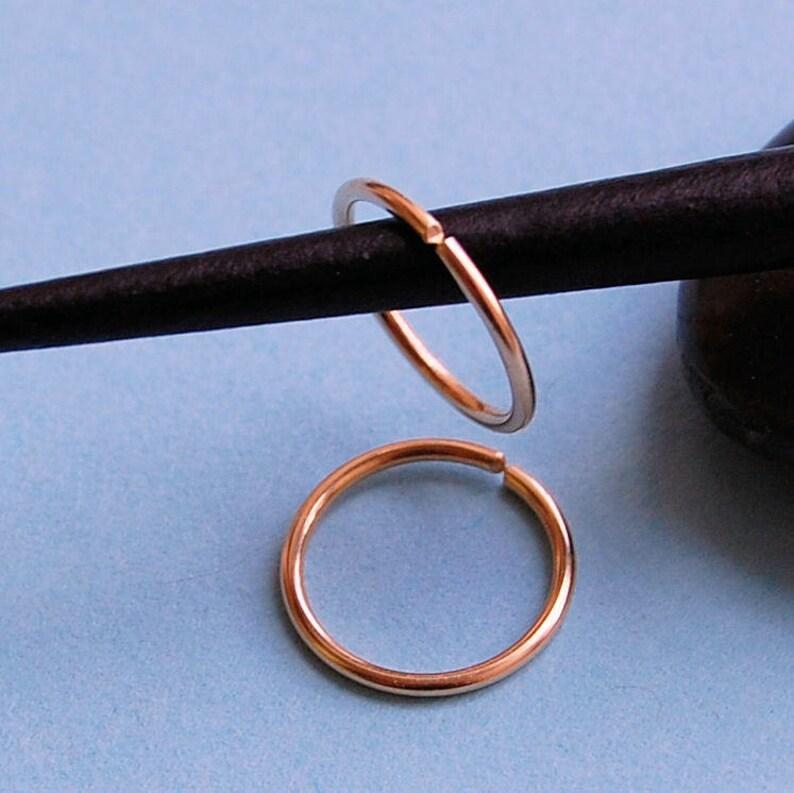 Pair of Hoops Tiny Hoop Earrings Rose Gold Hoop Earrings Choose Your Size Gold Hoops Gold Sleeper Hoops