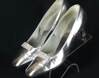99b9ca86df9 Items similar to Vintage 1950s Clear Plastic Pumps Shoes   50s Clear ...